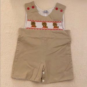 Orient Expressed Smocked Lion Shortall Size 2